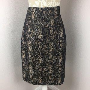 Antonio Melani Gold Black Pencil Skirt 6